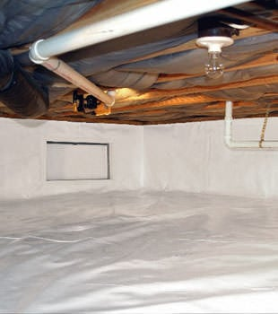 A complete crawl space repair system in Hamburg