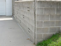 A retaining wall separating from the adjoining walls in Cheektowaga, West Seneca, Dunkirk