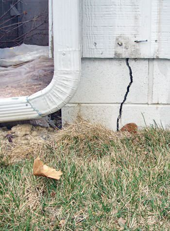 foundation wall cracks due to street creep in Newfane