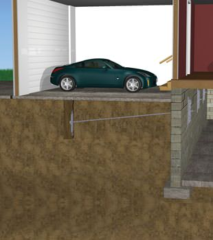 Graphic depiction of a street creep repair in a Gowanda home