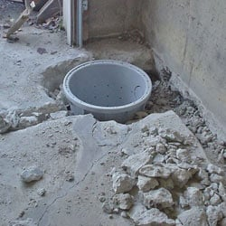 Placing a sump pit in a Akron home