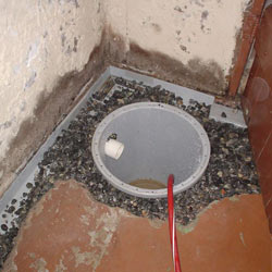 Installing a sump in a sump pump liner in a Lockport home