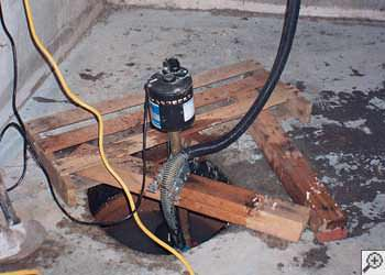 A Getzville sump pump system that failed and lead to a basement flood.