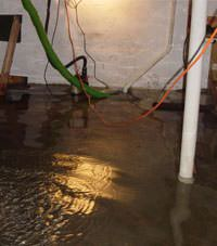 Several feet of floodwaters in a Lake View basement