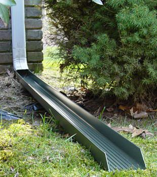Gutter downspout extension installed in Gowanda